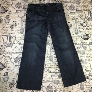 American Eagle Live Your Life 10 Wide Crop Jeans